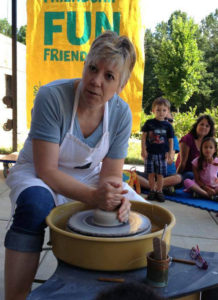 Julie Rowe, Raleigh artisan potter and Regal House coffee mugs